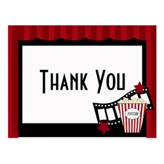Carte postale de Merci de salle de cinéma de KRW
