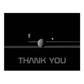 Carte postale de Merci des lunes de Saturn