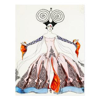 Carte postale de mode d art déco de Georges Barbie