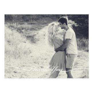 Carte postale de notes de Merci de mariage