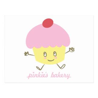 Carte postale de petit gâteau de la boulangerie de
