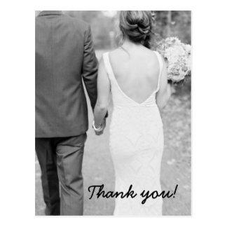 Carte postale de photo de Merci de mariage