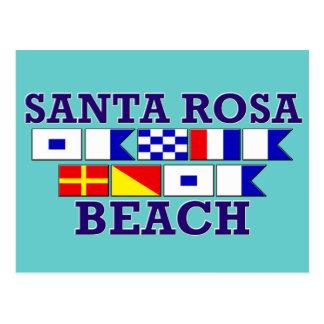 Carte postale de plage de Santa Rosa