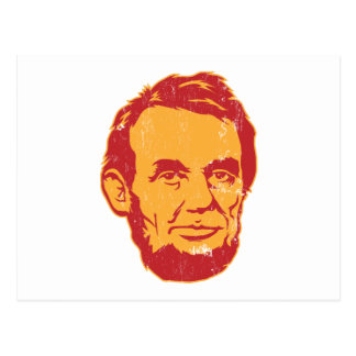 Carte postale de portrait d'Abraham Lincoln