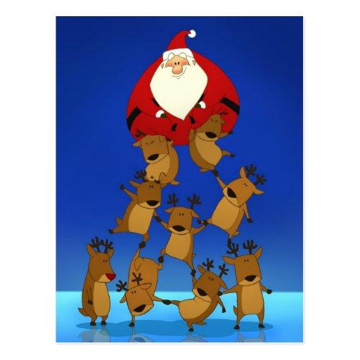 Carte postale de pyramide de Père Noël