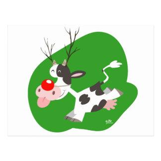 Carte postale de renne de Noël