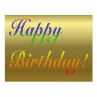 Carte postale de salutation d anniversaire