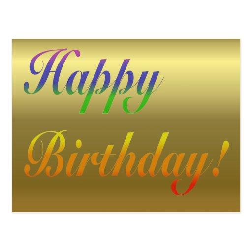 Carte postale de salutation d'anniversaire