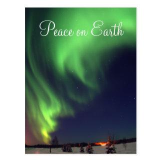 Carte postale de vacances de lumières du nord