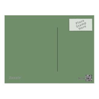 Carte postale de vert sauge