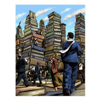 Carte postale de ville de livre