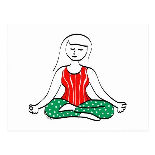 Carte postale de yoga de Noël