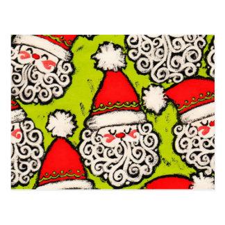 Carte postale démodée de Père Noël |