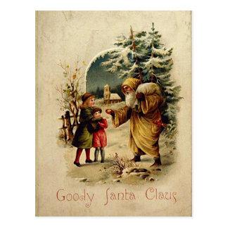 Carte postale démodée de Père Noël