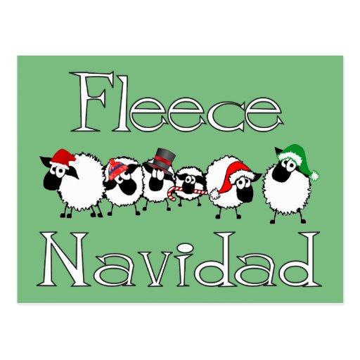 Carte postale drôle de Noël de Navidad d'ouatine