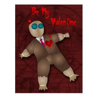 Carte postale drôle de Valentine d'amour de vaudou