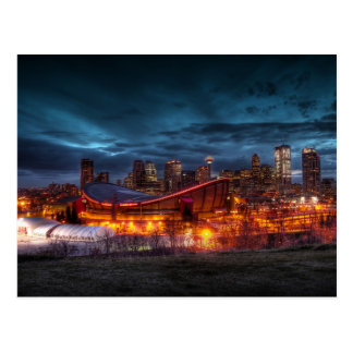 Carte postale du centre de Calgary