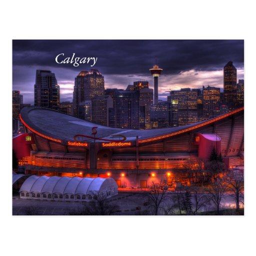 Carte postale du centre de coucher du soleil de Ca