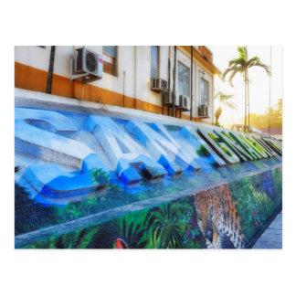 Carte postale du centre de peinture murale de San