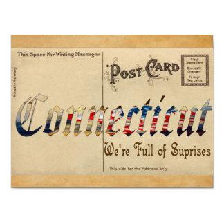 Carte postale du Connecticut de regard vintage vie