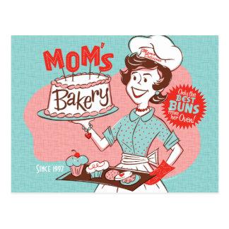 Carte postale du jour de mère de la boulangerie de