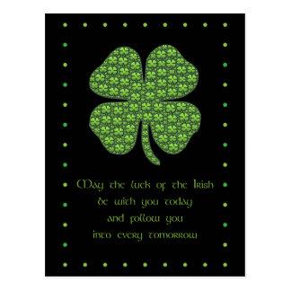 Carte postale du jour de St Patrick heureux