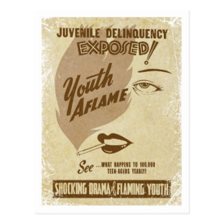 Carte postale en flammes de la jeunesse
