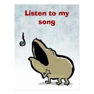Carte Postale Enrico, la grenouille de chant - texte editable