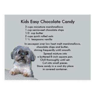 Carte postale facile de recette de bonbons au