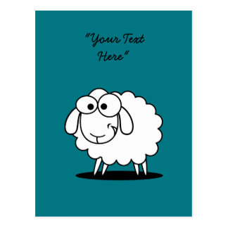 Carte postale folle de moutons