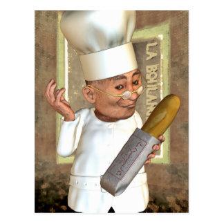 Carte postale française de boulangerie