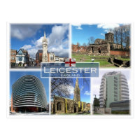 Carte Angleterre Leicester.Cartes Postales Leicester Originales Zazzle Ca