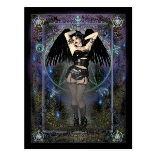 Carte postale gothique - Vampiress gothique