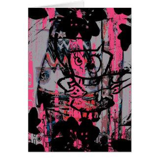 Carte postale grunge folle de graffiti