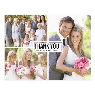 Carte postale III de Merci de mariage de collage