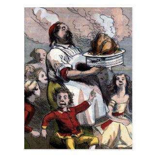 "Carte Postale Illustration vintage ""de la Turquie de Noël"""