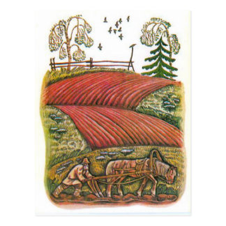 Carte Postale Illustrations russes vintages, les fables d'Ésope