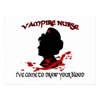 Carte Postale Infirmière de vampire (je suis venu pour dessiner