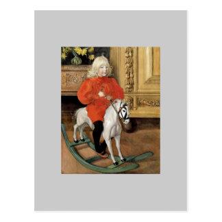 """Carte Postale """"Jour de Lucia !"""" Garçon sur un cheval de"""