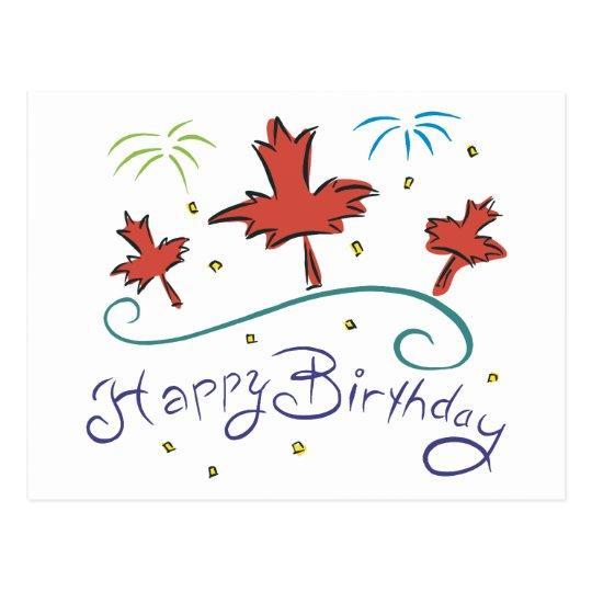 Carte Postale Joyeux anniversaire Canada | Zazzle.ca