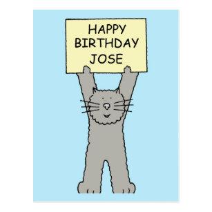 Cartes De Vœux Anniversaire Jose Zazzle Ca