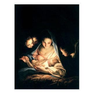 Carte Postale La nuit sainte (la nativité)