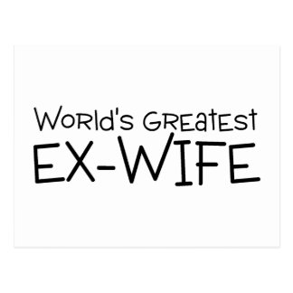 Carte Postale La plus grande épouse ex des mondes