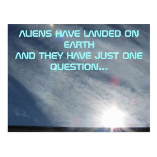 Carte Postale La question de l'alien un
