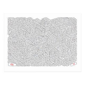 Carte Postale Labyrinthe de l'amour