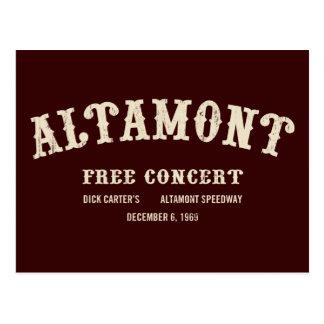 Carte Postale l'altamont libèrent le concert