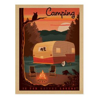 Carte Postale Le camping est pour des amants de nature