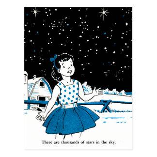 Carte Postale Le rétro livre d'enfants vintage de kitsch 1000s