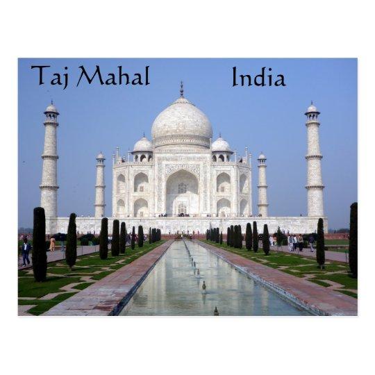 Carte Postale Inde.Carte Postale Le Taj Mahal Agra Inde