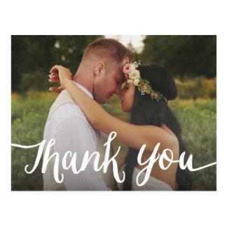 Carte postale l'épousant en lettres de Merci du